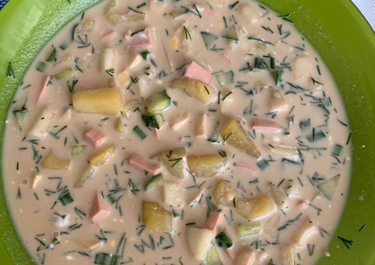 Soupe glacée au kvass