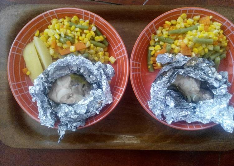 Resep (resep diet mayo) Ayam Kukus Daun Jeruk