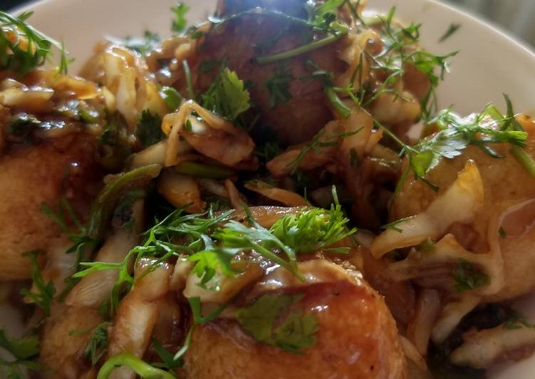 Easiest Way to Prepare Quick Manchurian flavoured steamed rava balls
