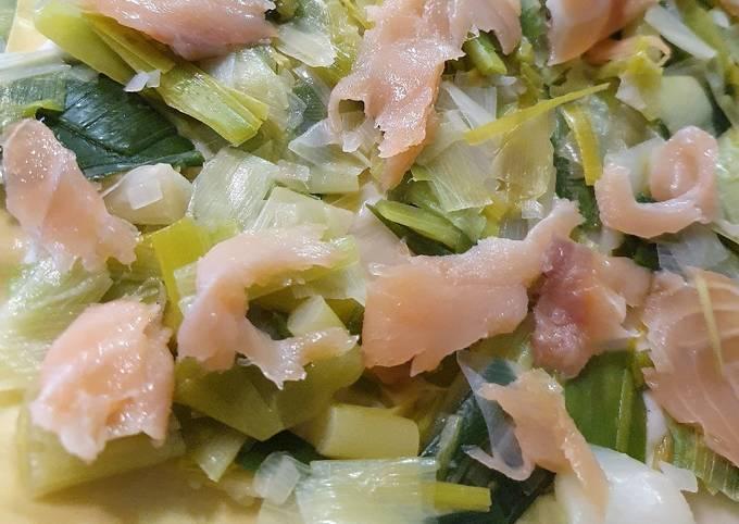 Lasagnes saumon poireau