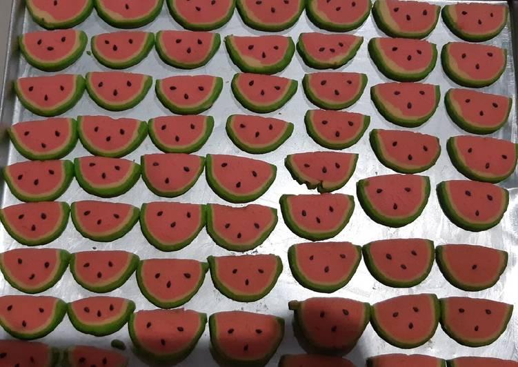 Kukis semangka 4 bahan