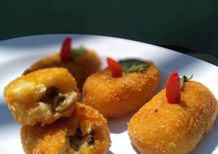 Kroket kentang isi ayam sayur