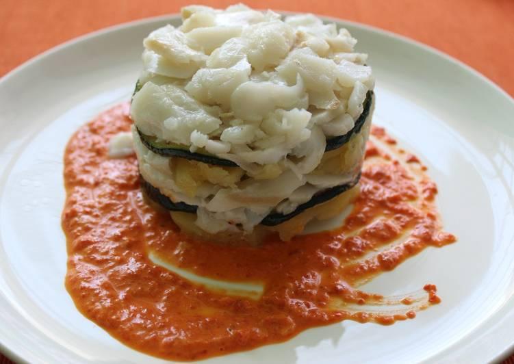 Receta bacalao en salsa de piquillos