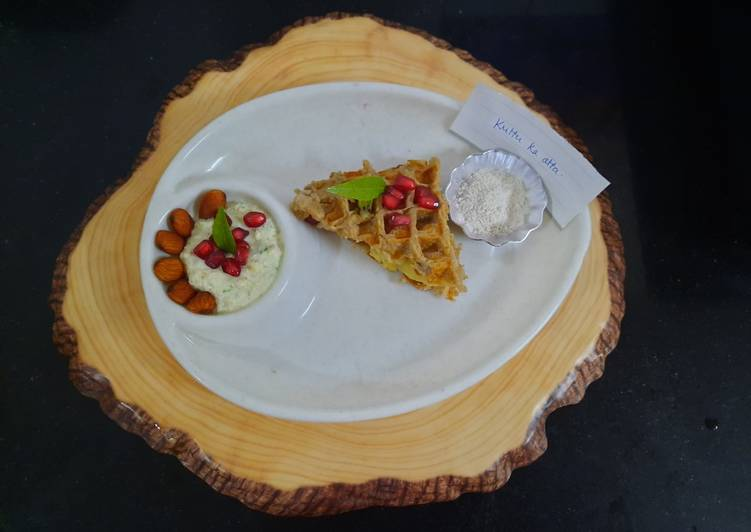 Recipe of Favorite Kuttu atta waffles sandwich with peanut dip