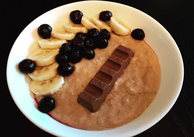 Porridge banane choco kinder