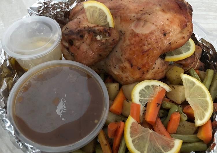 Herbal Roasted Chicken - cookandrecipe.com