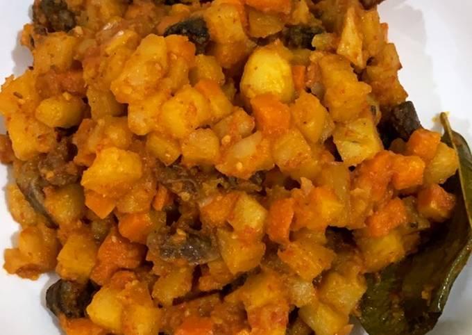 Balado kentang wortel ati ampela