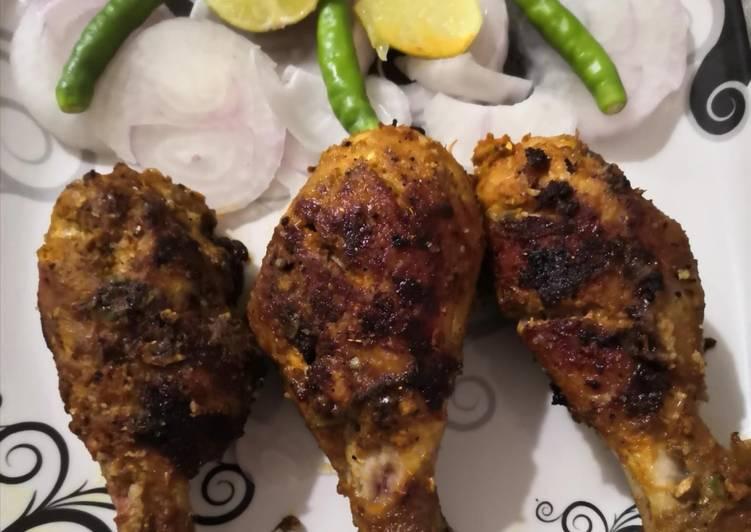 Roasted garlic masala chicken drumstick
