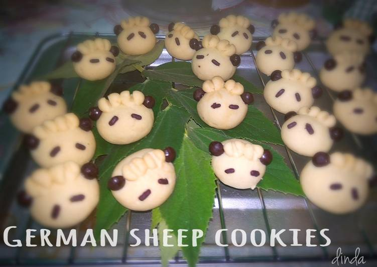 German sheep cookies - cookandrecipe.com