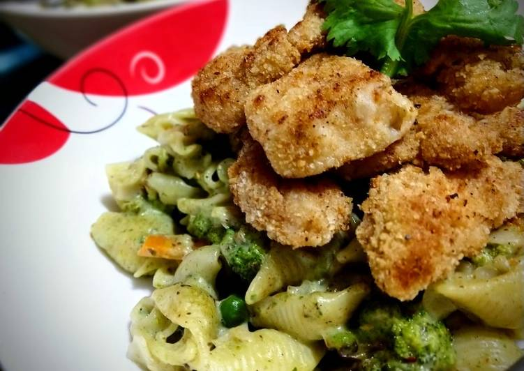 Step-by-Step Guide to Prepare Perfect Spinach Pasta with Baked Chicken Nuggets