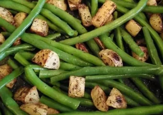 Vickys Fried Potato and Green Beans, GF DF EF SF NF