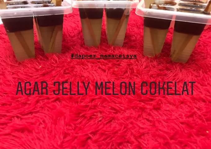Agar Jelly Ice Cream Melon Cokelat