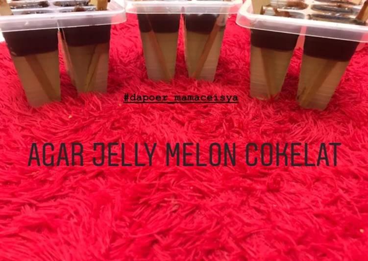 resep cara mengolah Agar Jelly Ice Cream Melon Cokelat