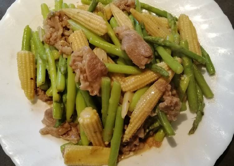 How to Make Perfect Sauteed Baby Corn and Asparagus