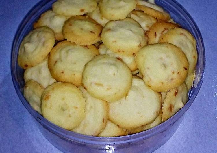Cookies Putih Telur / Lidah Kucing Keju Bulat