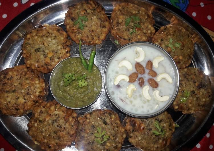 What are some Dinner Ideas Cooking Sabuddana tikki with coriander and peanuts mix chutney and sabuddana badam rabdi