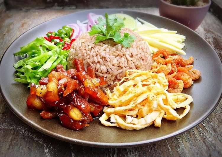 สูตร ข้าวคลุกกะปิ หมูหวาน โดย Kanpong Parnnark - Cookpad