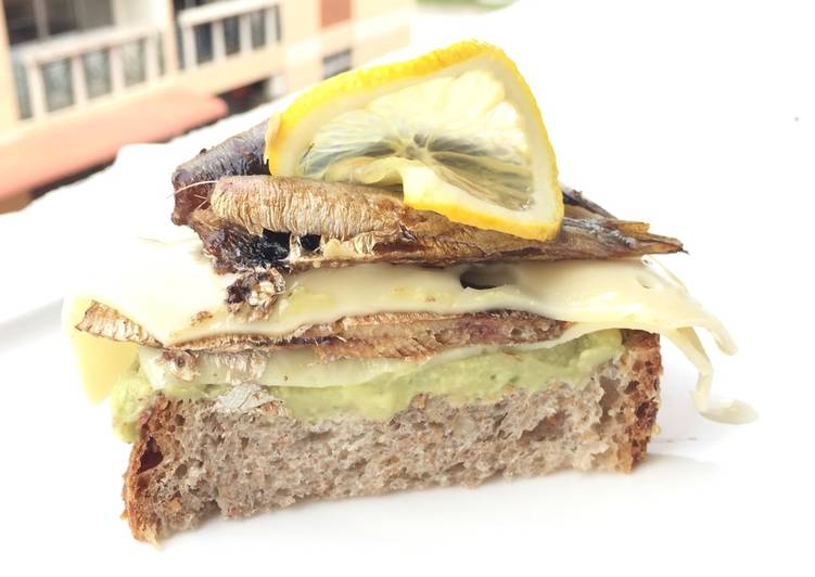 Easiest Way to Cook Tasty Avocado With Kieler Sprat And Swiss Cheese Sandwich