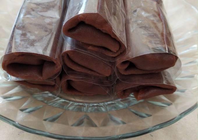 Langkah-Langkah Membuat Dadar gulung coklat isi pisang keju yang…