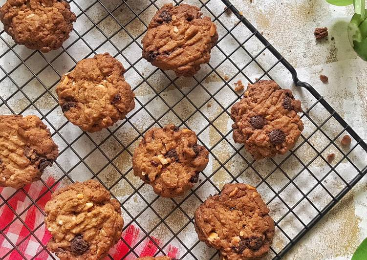 Choco chips cookies, no butter