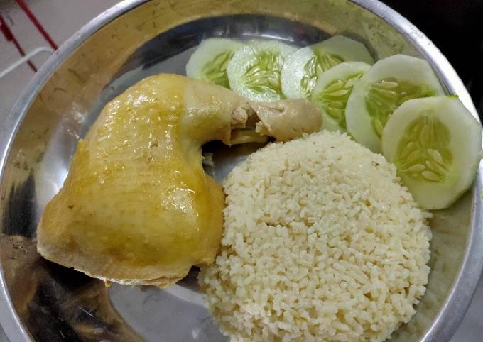 Nasi ayam hainanese