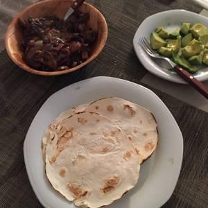 Fajitas vegetarianas light