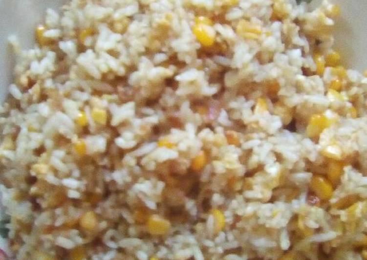 Nasi goreng jagung manis spesial ala Mama dafzain non msg