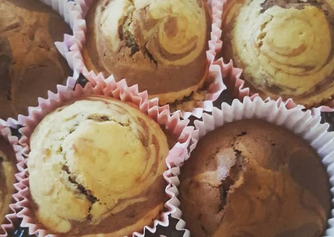 Muffins marbré sans oeufs