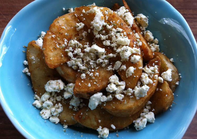 Step-by-Step Guide to Prepare Super Quick Homemade Feta Topping & Potato Wedges