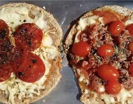 Pizza light de avena al microondas fácil y rápida ???? masa de pizza 1 2 3