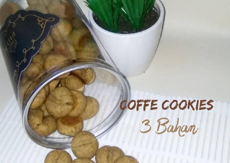 Coffe Cookies (3 Bahan)