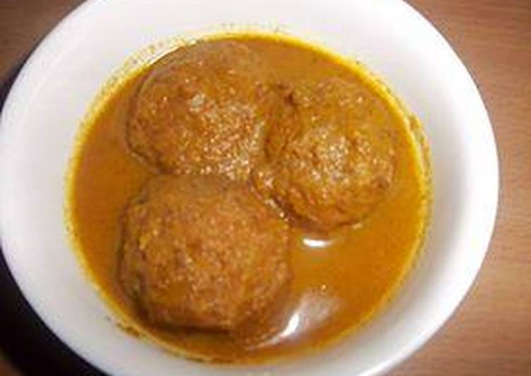 How to Make Tasty Mutton balls with cream' sauce for lunch :)