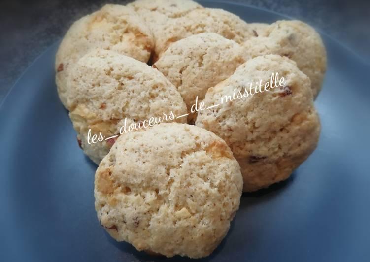 Comment faire Faire Délicieuse Cookies au chocolat blanc et à l'okara d'amande