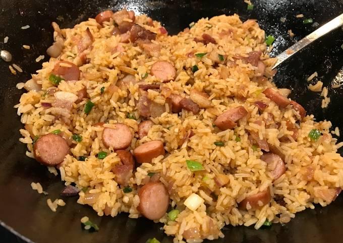 Hot Dog & Bacon Fried Rice