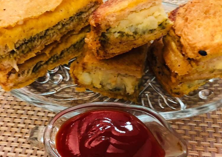 5 Minute How to Prepare Refreshing Layered bread pakoras