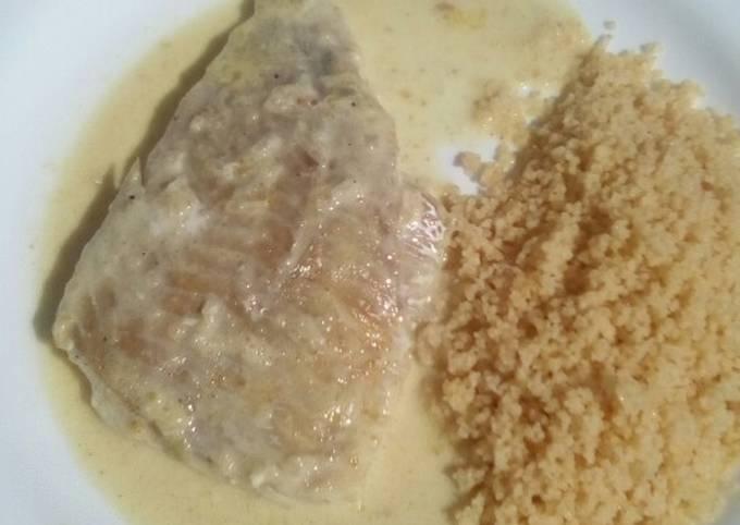 Filet de lieu noir au curry