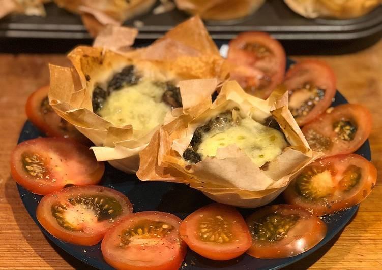Mini quiche champignon e falafel