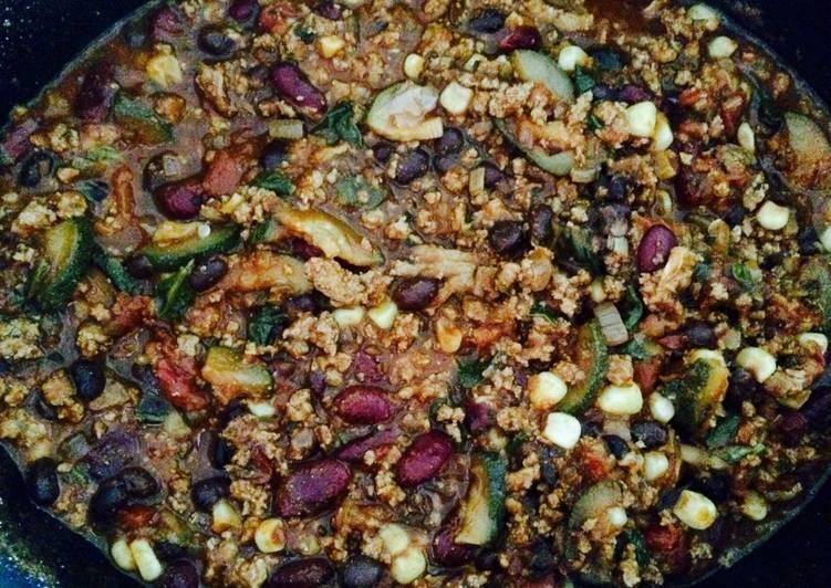 Recipe: Delicious Turkey & veggie chili