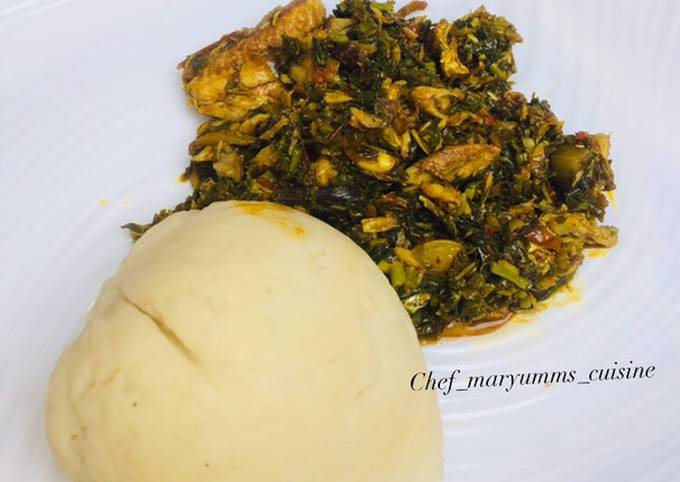 Recipe of Ultimate Vegetable soup and pounded yam by chef maryumms cuisine🌸