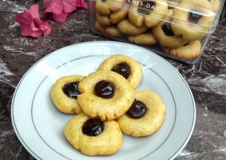 Blueberry tumbprint cookies teflon