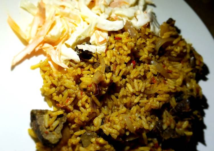 Recipe of Perfect Jollof rice with liver