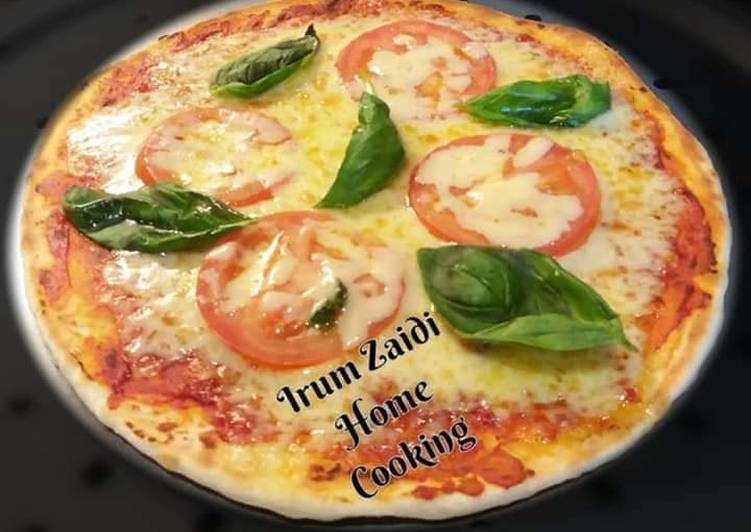 Recipe of Most Popular 🍕🌿Pizza Margherita 🌿🍕 (Tomato, Basil, and Mozzarella Pizza)