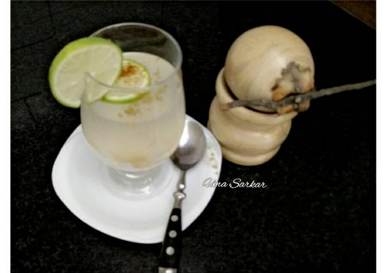 Tender coconut water lemonade