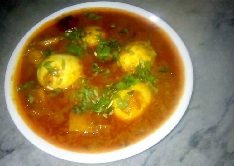 Simple Way to Make Super Quick Homemade Egg potato qorma