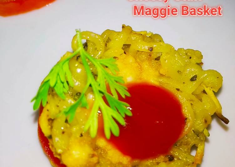 Recipe: Perfect Cheesy Stuff Maggi Basket