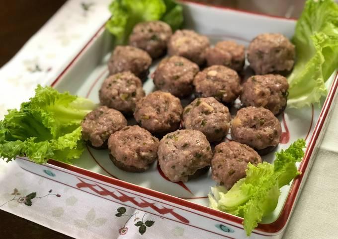 Pork Dumplings with Shiitake Mushrooms