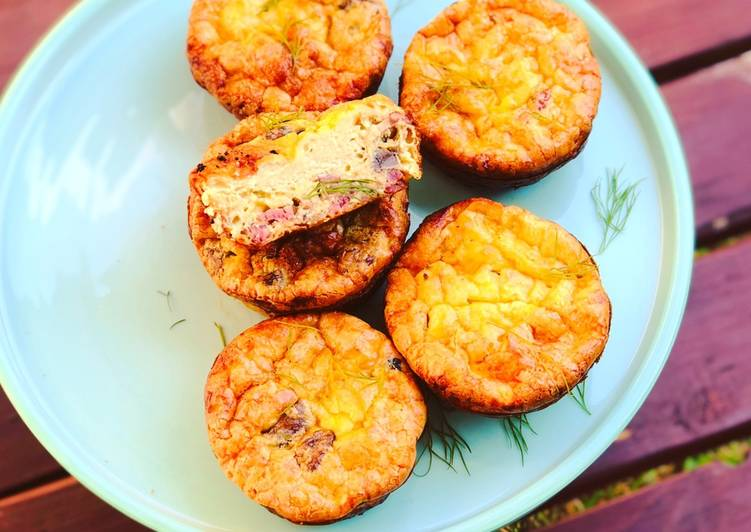 Recipe of Favorite Crustless Bacon and Mushroom Quiche Cups