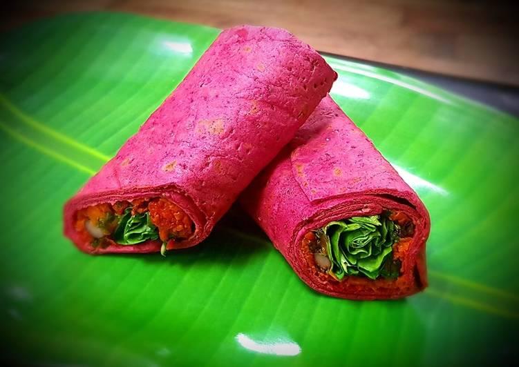 Easiest Way to Cook Appetizing Vegan Beetroot Wrap
