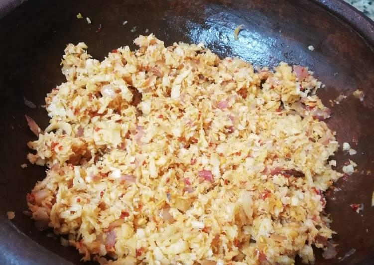Tasty coconut sambal