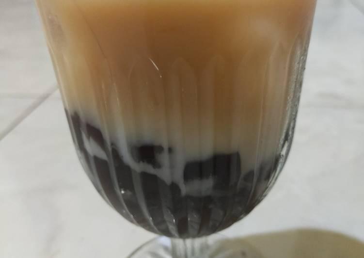 Resep Ice Boba milk Tea🍹 yang Menggugah Selera